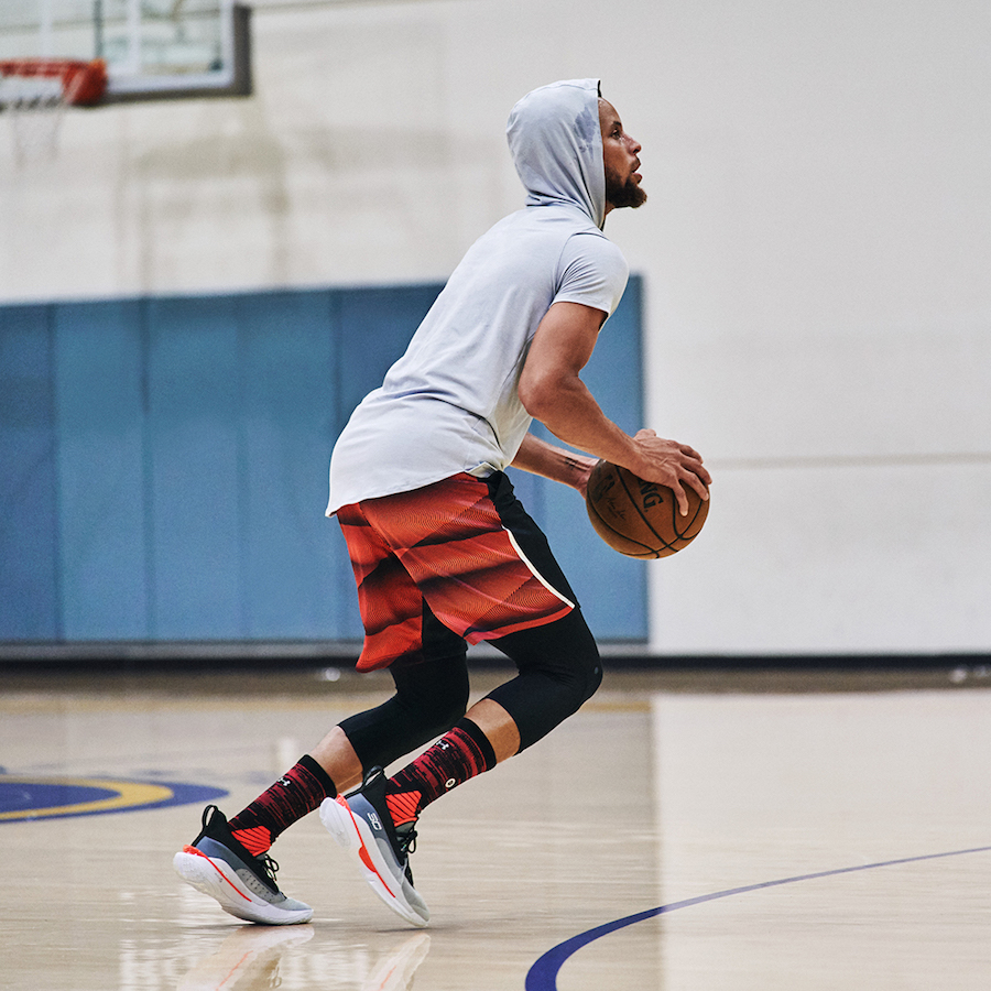 underarmour curry7 undrtd(アンダーアーマー カリー7)着用 ステフィン・カリー シュートシーン